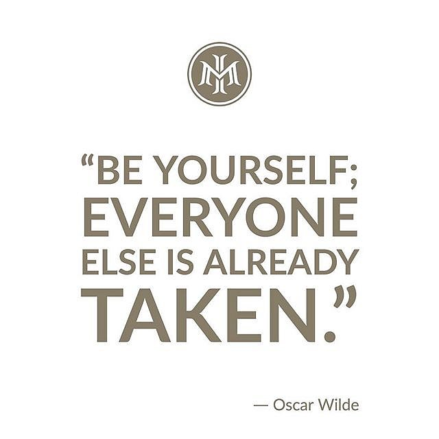 """""""Be yourself; everyone else is already taken."""" ⠀"""